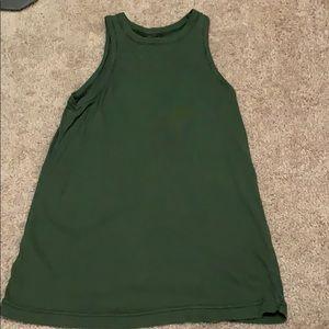 Army green tank top